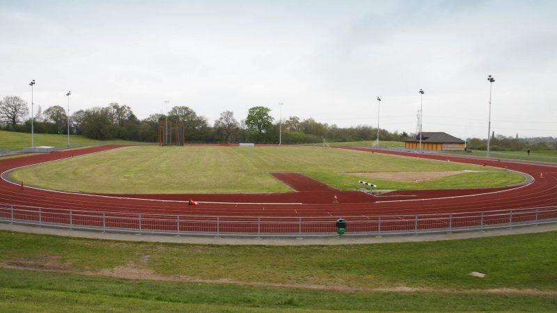 Macclesfield leisure Centre athletics track