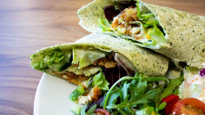 Chicken Wrap Taste for Life Cafe